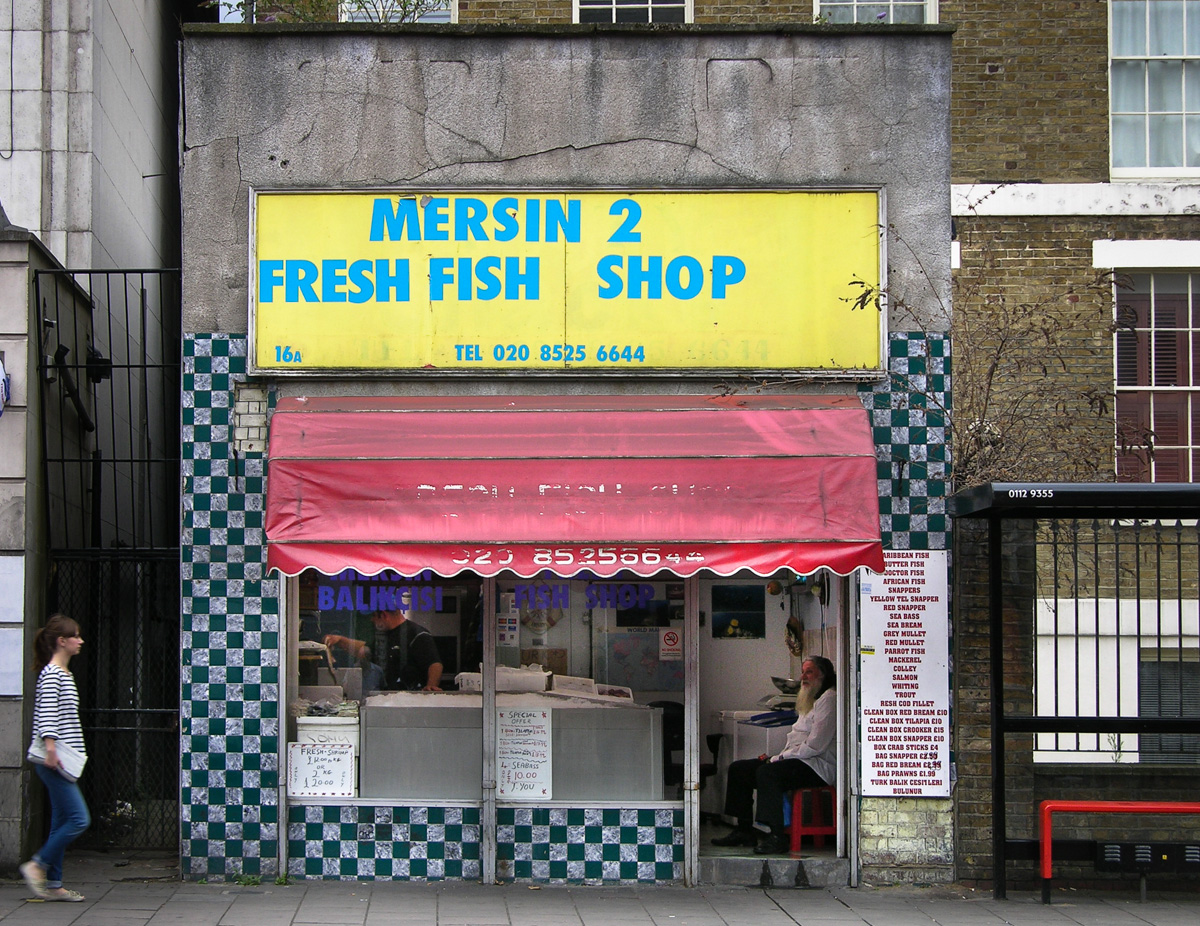 Mersin 2 fresh fish shop shopfront elegy for Fish store reno