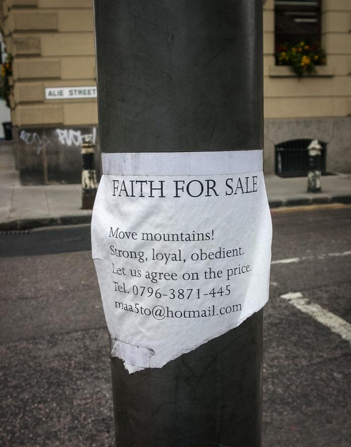 Faith for Sale