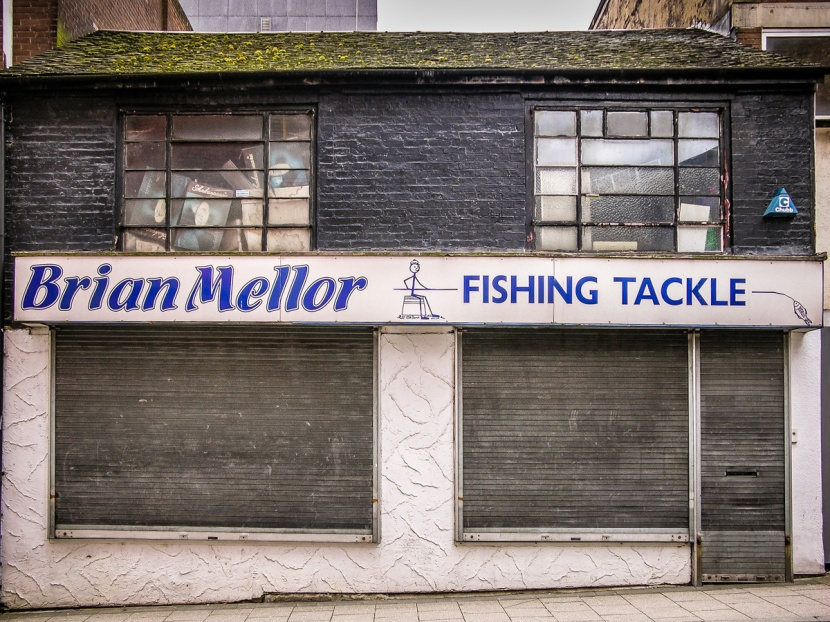 Stoke on trent shopfront elegy for Brian s fishing supply