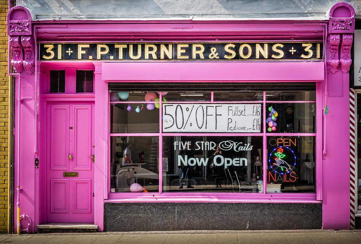 F.P. Turner & Sons (Five Star Nails) – Shopfront Elegy