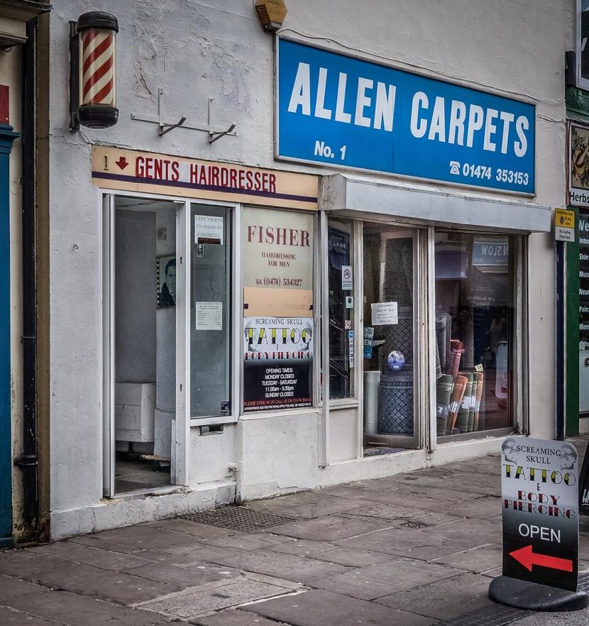 Allen Carpets, Fisher Hairdressing, Screaming Skull