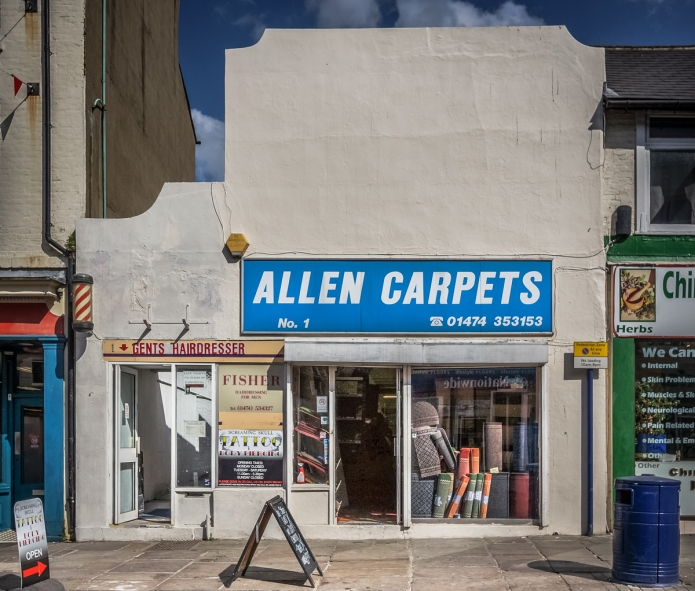 Allen Carpets, Fisher Hairdressing, Screaming Skull