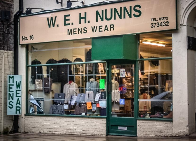 W.E.H. Nunns Mens Wear