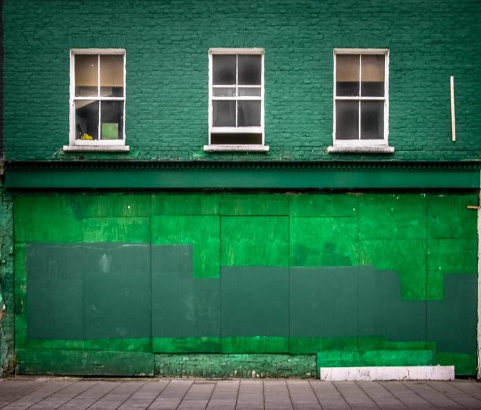 Green boarded shop
